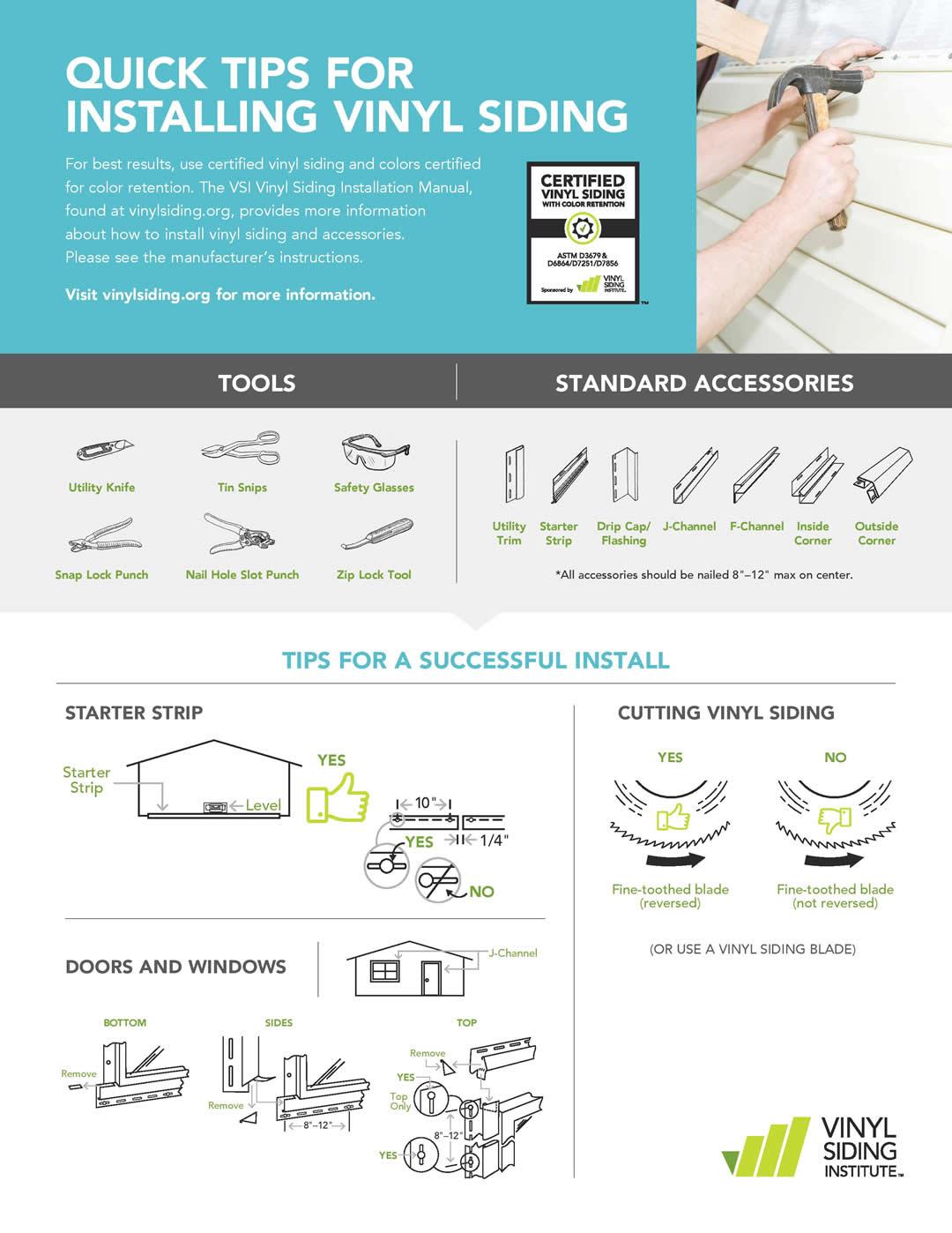 Quick Tips For Installing Vinyl Siding Premium Siding Supply