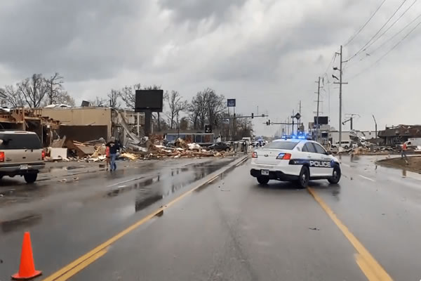 Devastation in Northeast Arkansas March 2020